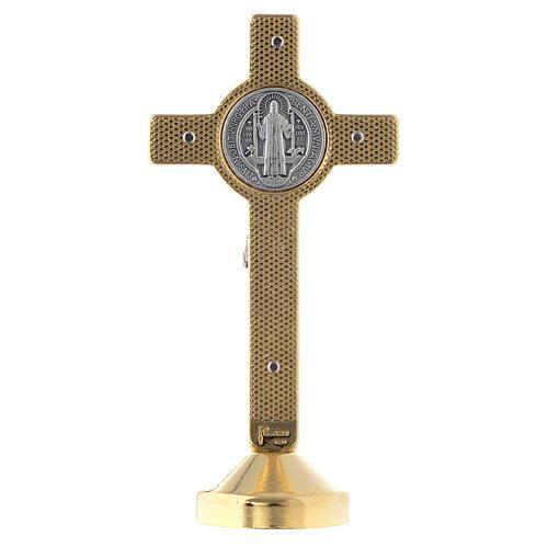 Cruz metálica San Benito mesa azul 2