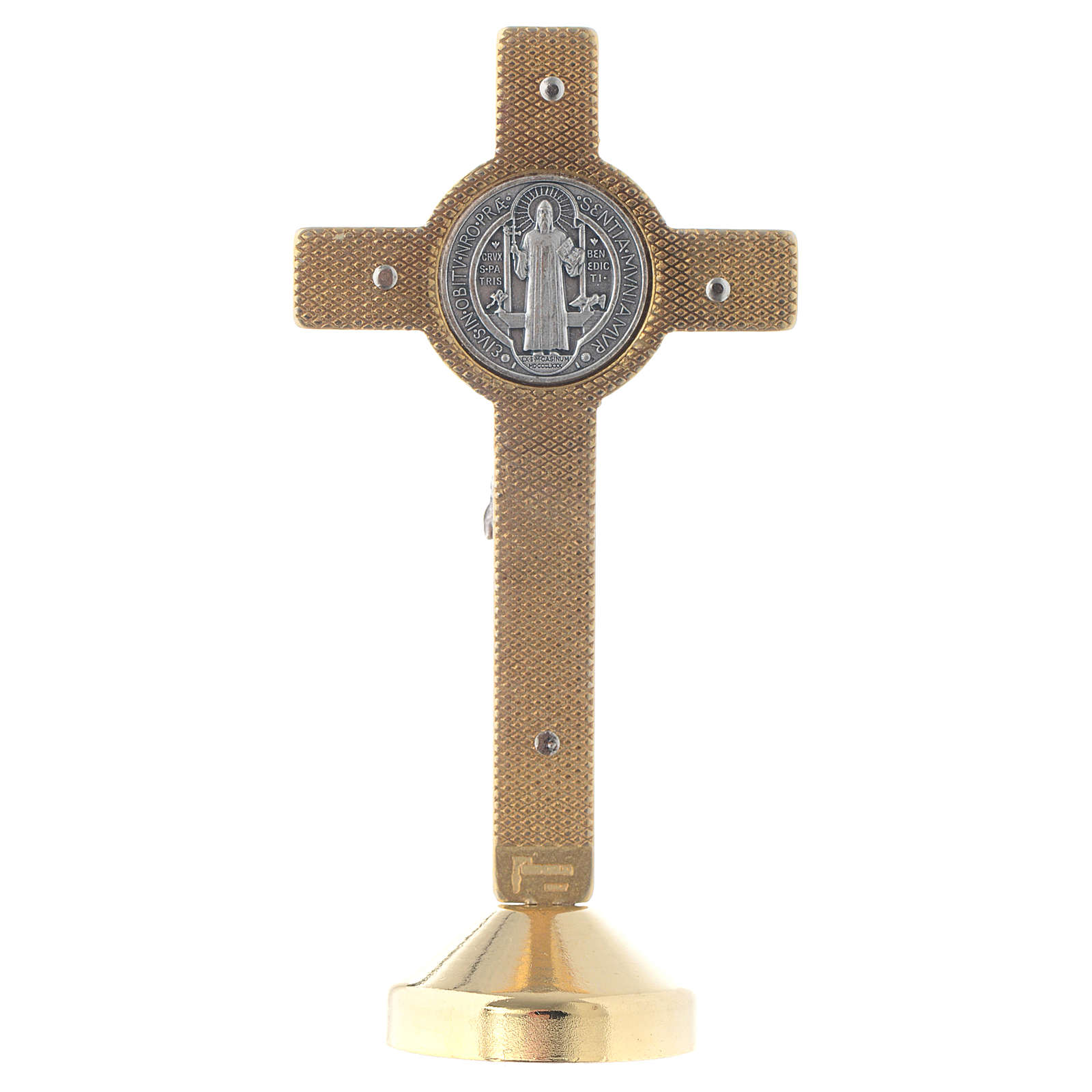 Croix de St. Benoît métal rouge table 4