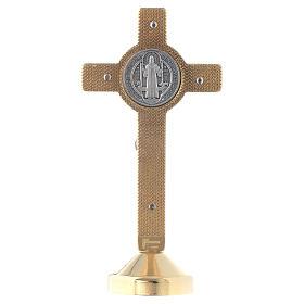 Croce metallo san Benedetto tavolo rosso s2