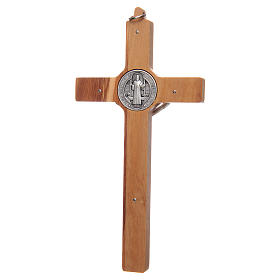 Olive wood Saint Benedict cross s2