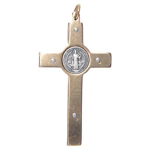 Krzyżyk świętego Benedykta na szyję czerwony eleg 2