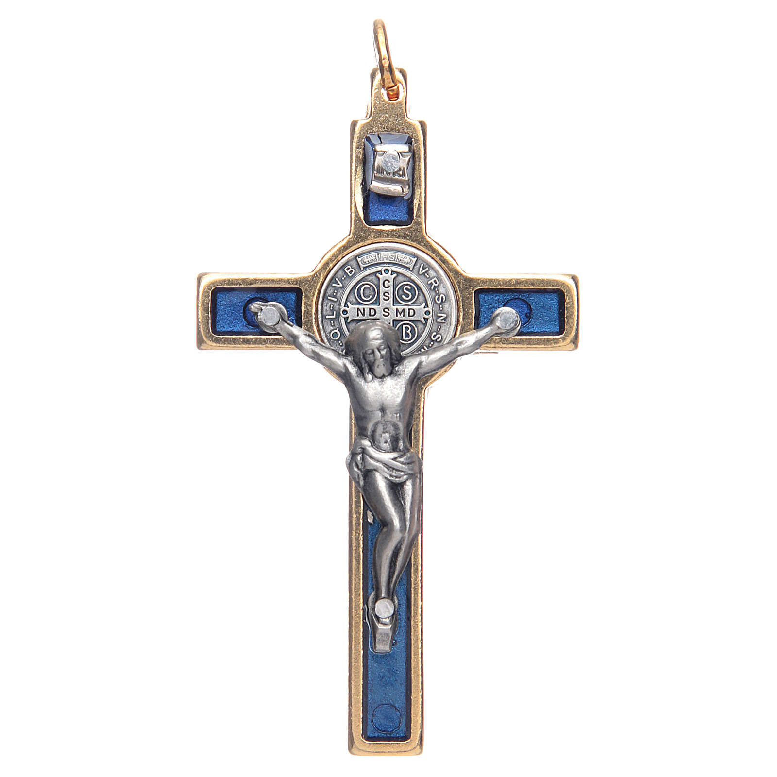 Halskette Heilig Benedictus blau elegant 4