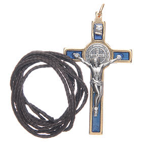 Saint Benedict cross blue collier s3