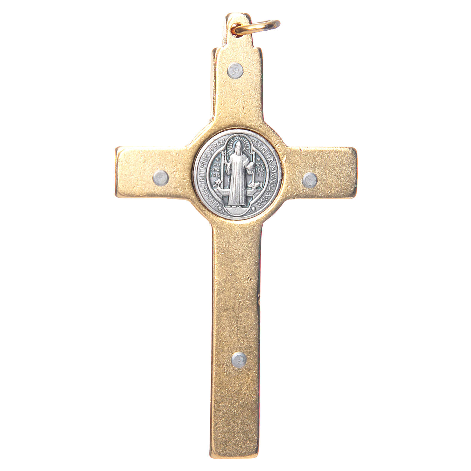 Colar Cruz São Bento azul escuro elegante 4