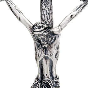 Pastoral cross of Pope John Paul II 38 cm silver plated s2