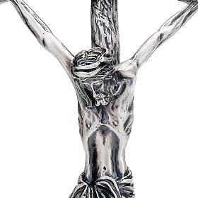 Croix pastorale Jean Paul II 38 cm argentée s2