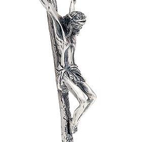 Croix pastorale Jean Paul II 38 cm argentée s3