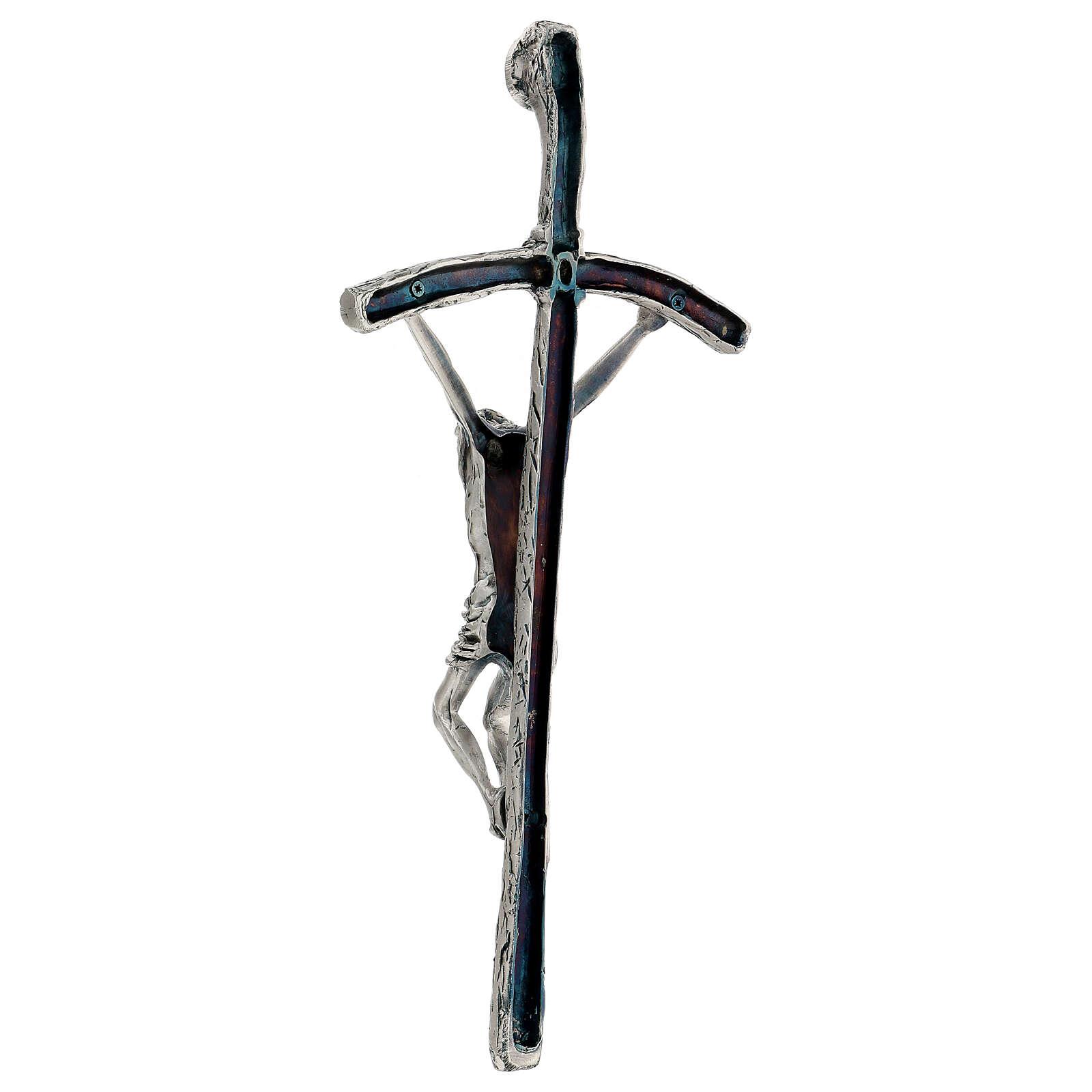 Croce pastorale Giovanni Paolo II 38 cm argento 4
