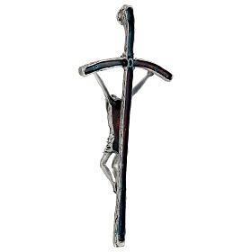 Croce pastorale Giovanni Paolo II 38 cm argento s5