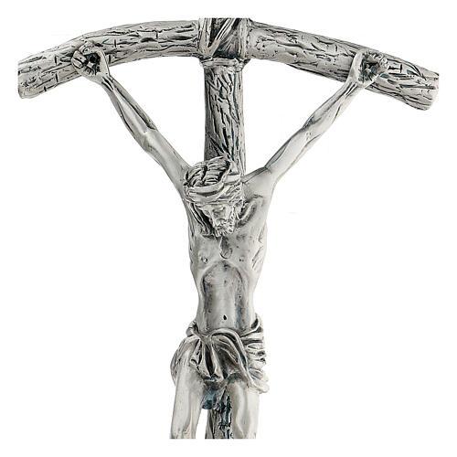 Croce pastorale Giovanni Paolo II 38 cm argento 2