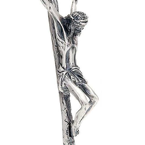 Krucyfiks pastoralny Jan Paweł II 38 cm srebro 3