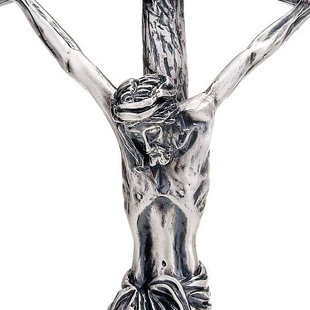 Pastoral cross of Pope John Paul II 38 cm silver plated 4