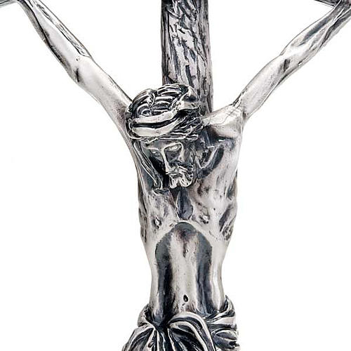 Pastoral cross of Pope John Paul II 38 cm silver plated 2
