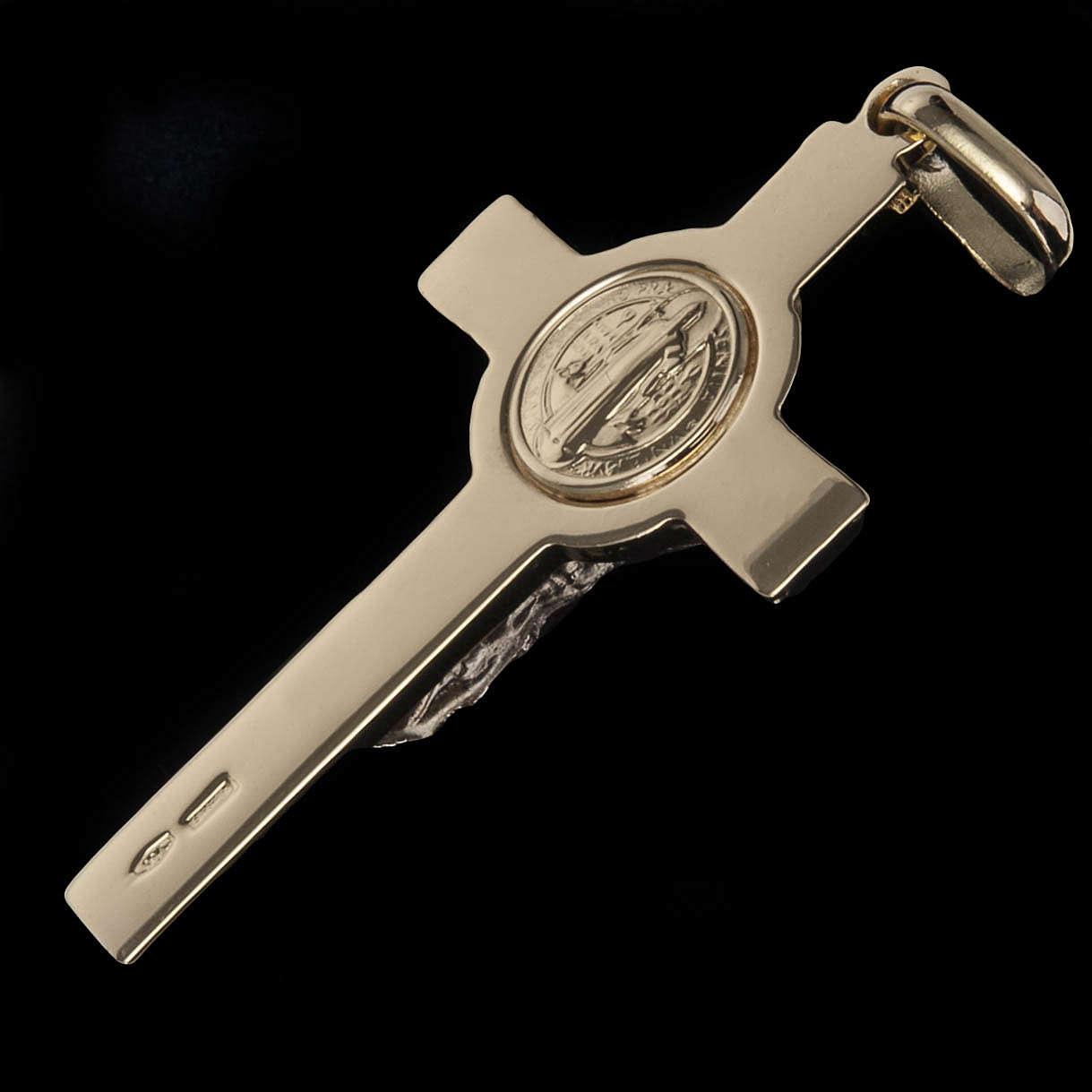 Croce San Benedetto Pendente  oro 18K 4