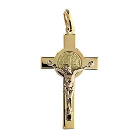Croce San Benedetto Pendente  oro 18K