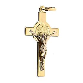 Krzyżyk Świętego Benedykta zawieszka złoto 18kt s2