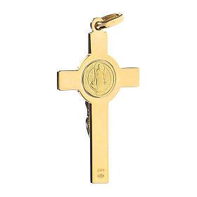 Krzyżyk Świętego Benedykta zawieszka złoto 18kt s4