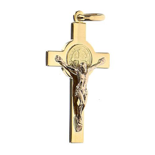 Krzyżyk Świętego Benedykta zawieszka złoto 18kt 2