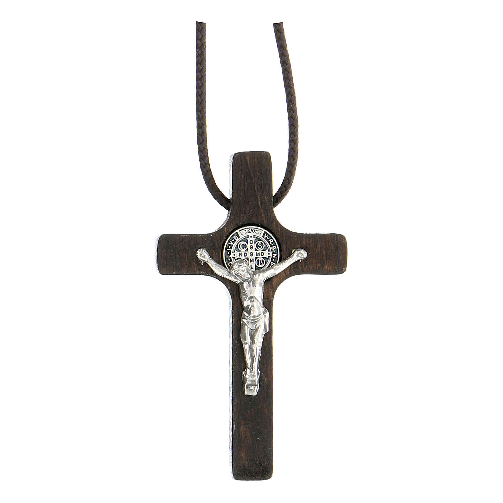 Collana Croce san Benedetto noce 4