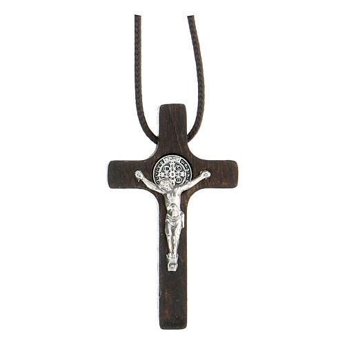 Collana Croce san Benedetto noce 1