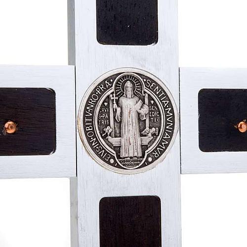 Croix St Benoit prestige marquetée bois 25x12.5 4