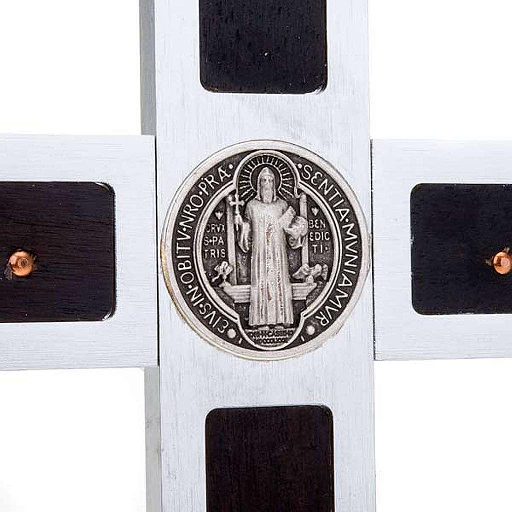 Croce San Benedetto Prestige intarsio legno 25 x 12.5 4
