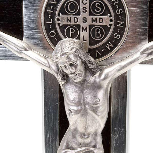 Croce San Benedetto Prestige intarsio legno 25 x 12.5 2
