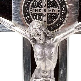 Cruz São Bento Prestige pedaço madeira 25x12,5 cm