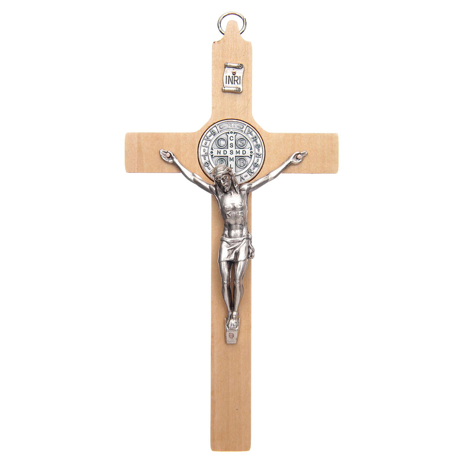Croce san Benedetto legno naturale 4