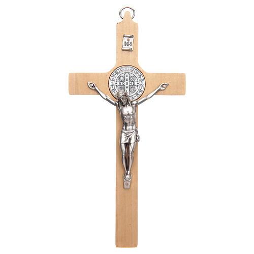 Croce san Benedetto legno naturale 1