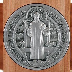 Saint Benedict cross in natural cherry wood 71 cm s3