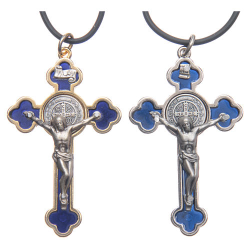 St. Benedict necklace with gothic cross 6x3 1