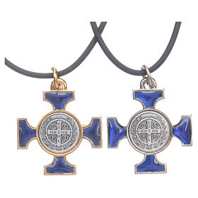 St. Benedict necklace with celtic cross 2,5x2,5 s2