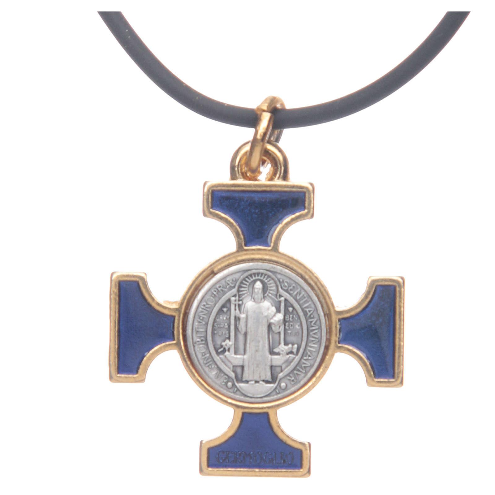 Collar cruz San Benito celta azul 2,5 x 2,5 4