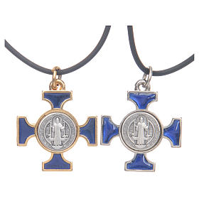 Collar cruz San Benito celta azul 2,5 x 2,5 s1