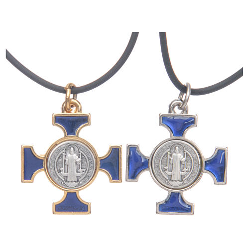 St. Benedict necklace with celtic cross 2,5x2,5 1