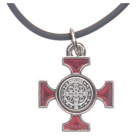 St. Benedict necklace with celtic cross 2x2 s4