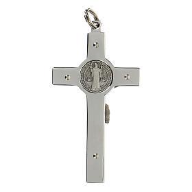 Pendente Croce San Benedetto argento 925 s2