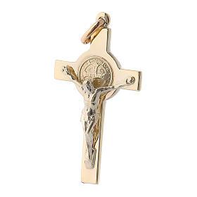 Pendentif croix de Saint Benoit or 14k s2