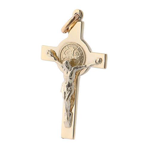 Pendentif croix de Saint Benoit or 14k 2