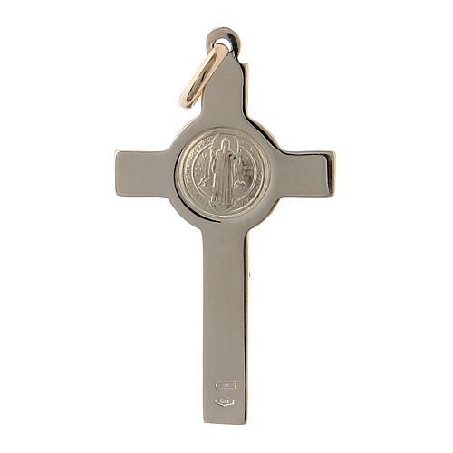 Pendentif croix de Saint Benoit or 14k 4