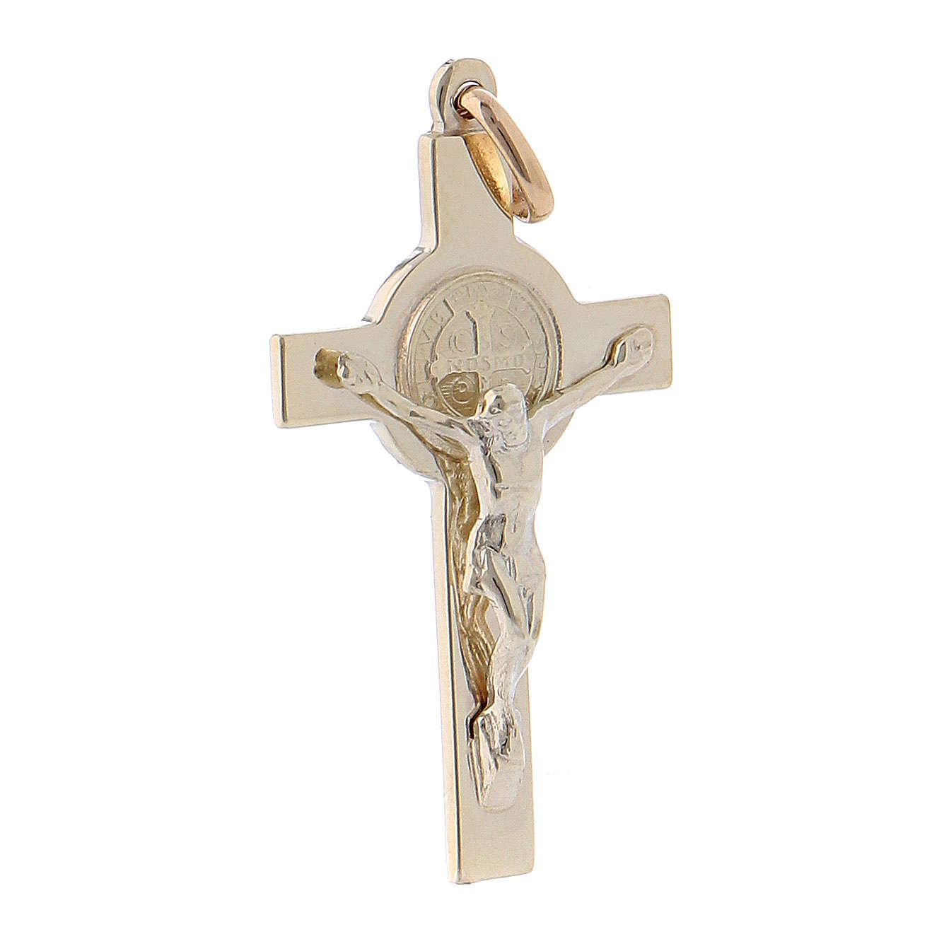 Croce San Benedetto oro 14K 4