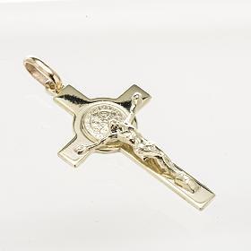 Croce San Benedetto oro 14K s2