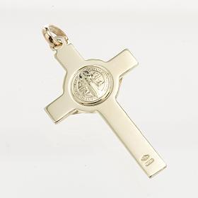 Croce San Benedetto oro 14K s3