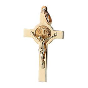 Croce San Benedetto oro 14K s1