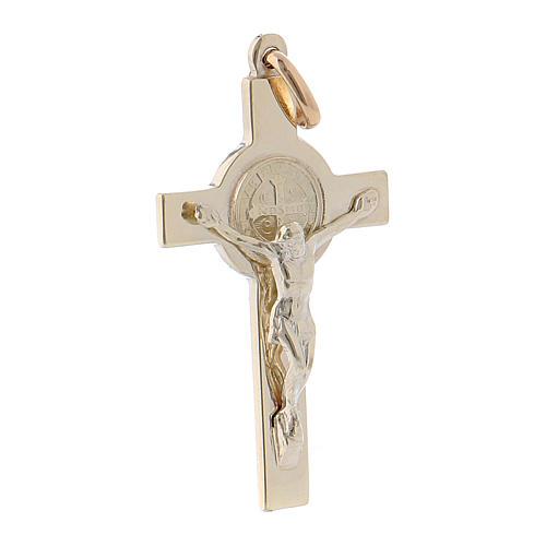 Cruz São Bento ouro 14K 3