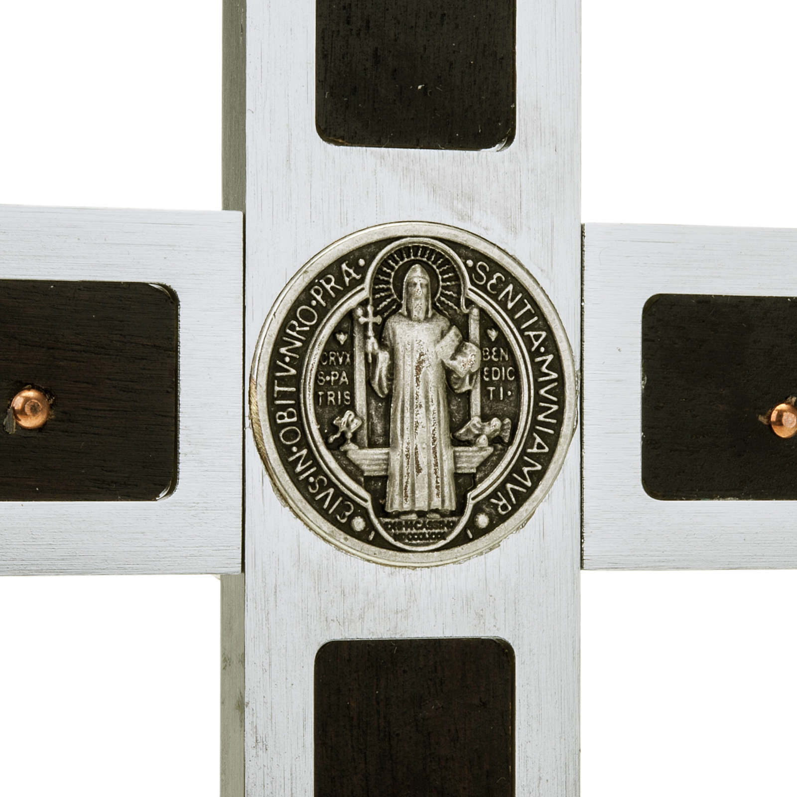 Croce San Benedetto Prestige intarsio legno 40 x 20 4