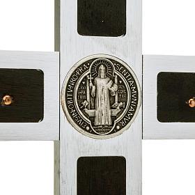 Croce San Benedetto Prestige intarsio legno 40 x 20 s2