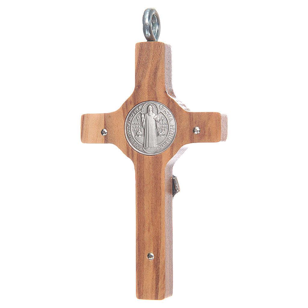 Cruz San Benito 8x4 cm. 8x4 cm. plata 925 cruz olivo con cuerda 4