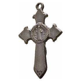 Cruz São Bento pontiaguda 3,5x2,2 cm zamak esmalte preto